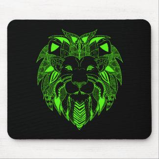 あなたの選択の背景色の緑のライオン マウスパッド