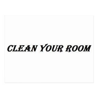 あなたの部屋をきれいにして下さい ポストカード