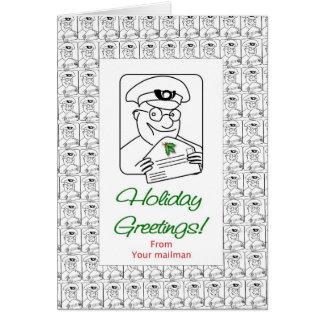 あなたの郵便配達員からの休日の挨拶 カード
