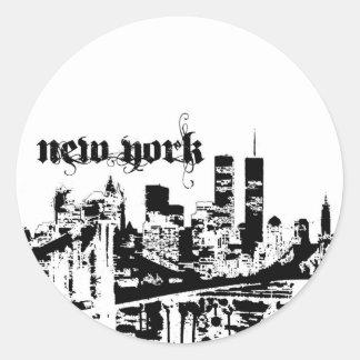 あなたの都市のために置かれるNYC ラウンドシール