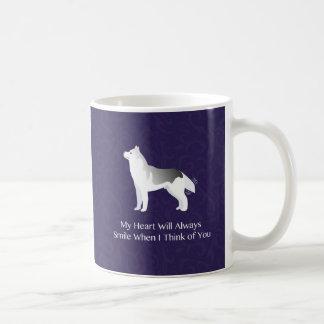 あなたの銀製にシベリアンハスキー犬の考えること コーヒーマグカップ