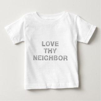 あなたの隣人を愛して下さい ベビーTシャツ