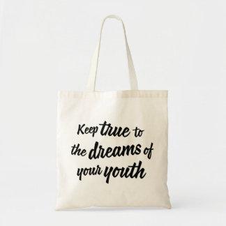 """""""あなたの青年の夢""""に本当バッグ保って下さい トートバッグ"""