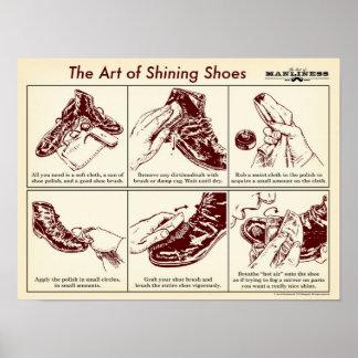 あなたの靴の図解入りガイドポスターを照らす方法 ポスター
