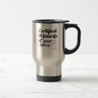 あなたの頚部旅行コーヒー・マグの証明された助産婦 トラベルマグ