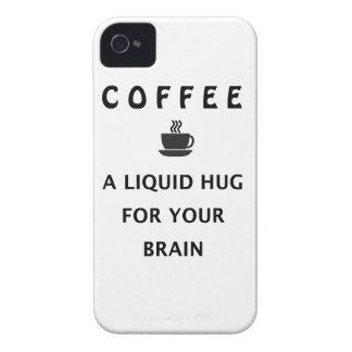 あなたの頭脳のためのコーヒー液体の抱擁 Case-Mate iPhone 4 ケース