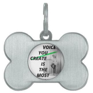 あなたの頭部の声は最も生きています ペットネームタグ