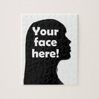 あなたの顔ここコピー ジグソーパズル