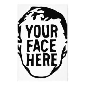 あなたの顔ここ 便箋