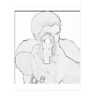 """""""あなたの顔で""""の口輪プロダクト ポストカード"""