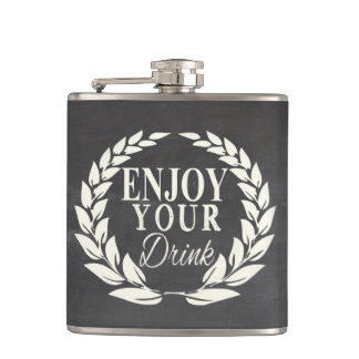 あなたの飲み物を楽しんで下さい フラスク