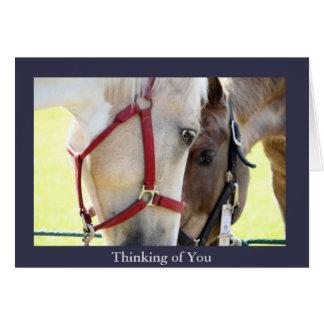 あなたの2頭の馬の考えること挨拶状 グリーティングカード