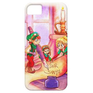 あなたの「小妖精や小人をメリーで小さいクリスマスのiPhoneCase持って下さい iPhone SE/5/5s ケース