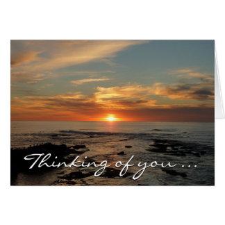 """あなたの""""考えること""""サンディエゴの日没IIは梳きます カード"""