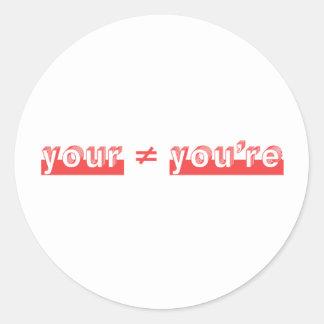 """""""あなたの"""" 2つの単語は""""あなたは""""であり、 ラウンドシール"""
