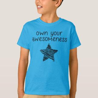 あなたのawesomenessのワイシャツのドイツ体および星を所有するため tシャツ