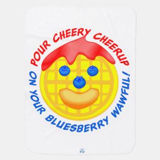 """""""あなたのBluesberry Wawfulに陽気なCheerupをかけて下さい! """" ベビー ブランケット"""