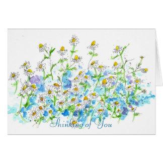 あなたのChamomileの庭の水彩画の考えること カード