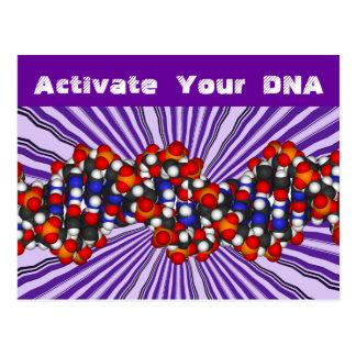 あなたのDNAの郵便はがきを活動化させて下さい ポストカード