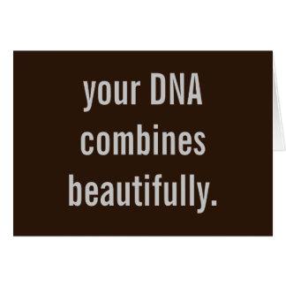 """""""あなたのDNA""""は新生児カードを美しく結合します カード"""