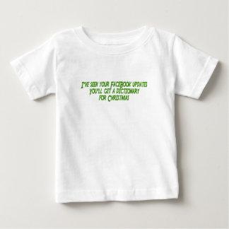 あなたのFBの更新を見られたIve辞書fを得ます ベビーTシャツ