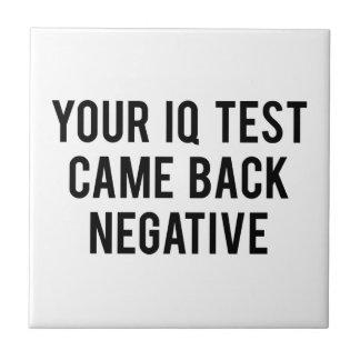 あなたのI.Q.テストは陰性もどって来ました タイル