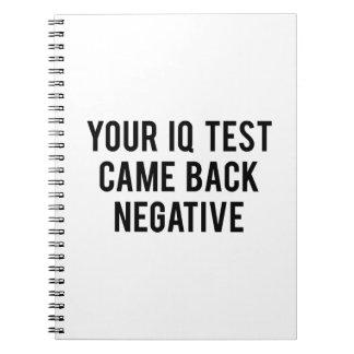 あなたのI.Q.テストは陰性もどって来ました ノートブック