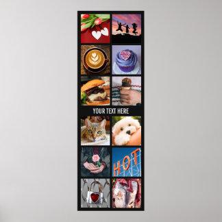 あなたのINSTAGRAMの写真のカスタムなコラージュポスター ポスター