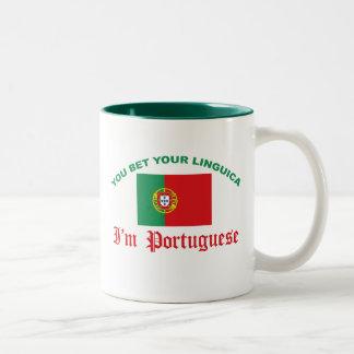 あなたのLinguicaを賭けました ツートーンマグカップ