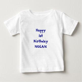 あなたのnamePersonalizedハッピーバースデーのワイシャツを加えて下さい ベビーTシャツ