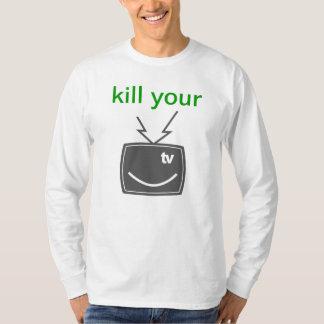 あなたのTVを殺して下さい Tシャツ