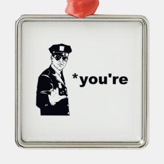 あなたはあなたの文法警察 メタルオーナメント