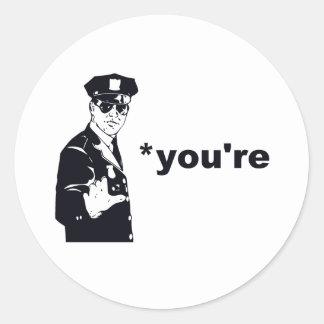 あなたはあなたの文法警察 ラウンドシール