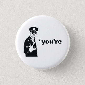 あなたはあなたの文法警察 3.2CM 丸型バッジ