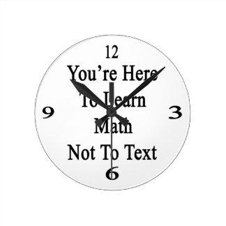 あなたはここに数学をない文字に学ぶため ラウンド壁時計