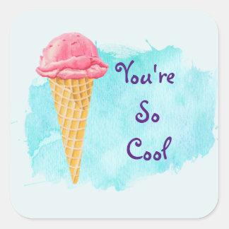 あなたはそうクールなアイスクリームコーン スクエアシール