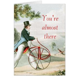 あなたはほとんどそこにHobbyhorseの歩行者の自転車 カード