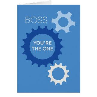 あなたはボスもの-ハッピーバースデー カード