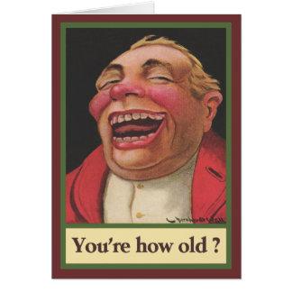 あなたは古いいかにか。 誕生日 カード