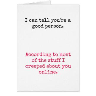 あなたは善良な人 カード