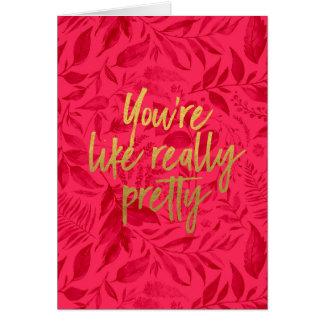 あなたは実際にかわいらしい挨拶状のように カード