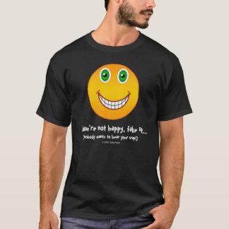 あなたは幸せ-おもしろいな顔のTシャツ Tシャツ