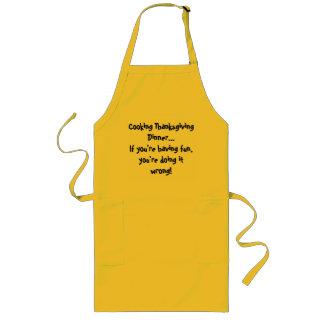 あなたは持っていたら…料理の感謝祭の夕食… ロングエプロン