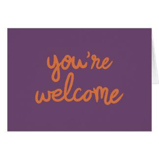 あなたは歓迎! カード