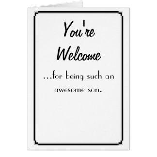 あなたは歓迎 カード
