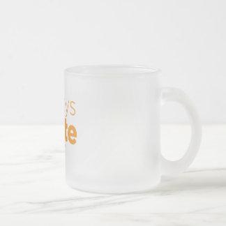 -あなたは決して間違った常に書かなければ フロストグラスマグカップ