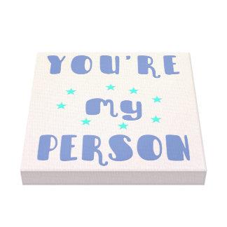あなたは私の人-おもしろいのタイポグラフィのロマンチックなキャンバス キャンバスプリント