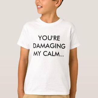 あなたは私の穏やか…傷つけます Tシャツ