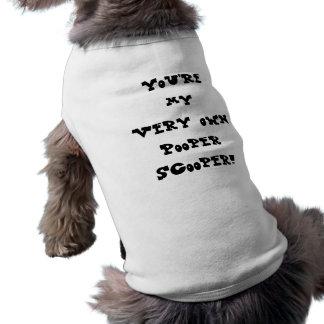 あなたは私の自身のPooper Scooper犬のワイシャツ 犬用袖なしタンクトップ