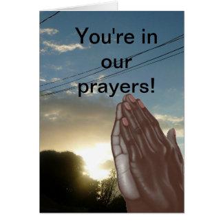 あなたは私達の祈りの言葉カードで カード